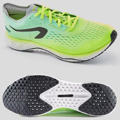 נעלי ריצה לגברים מדגם KIPRUN KD LIGHT - צהוב