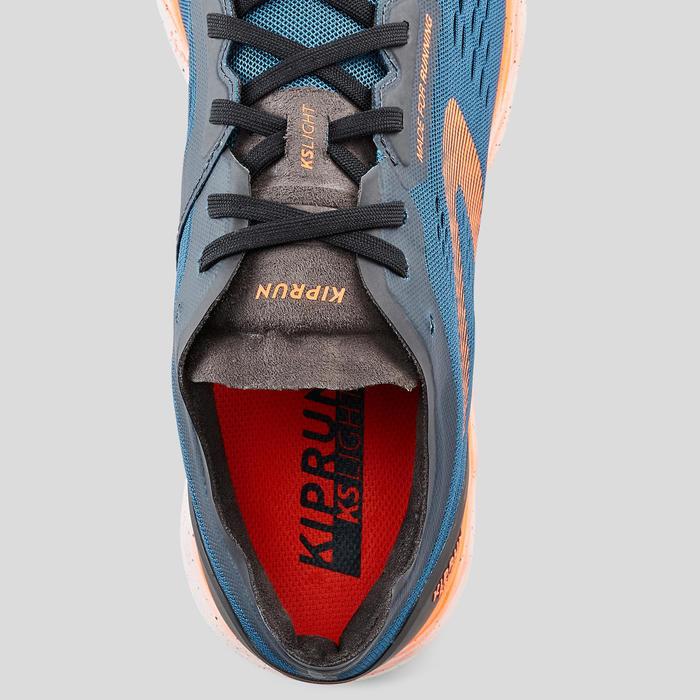 男款跑鞋KIPRUN KS LIGHT - 藍色/紅色
