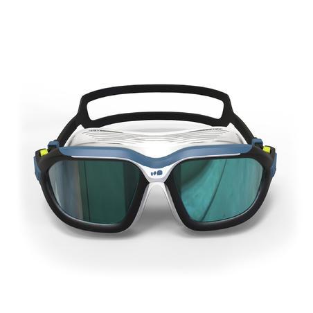 Маска для плавання Active 500, з дзеркальними лінзами, розмір L - Чорна/Біла