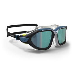 Schwimmmaske Active Grösse L verspiegelt blau/schwarz