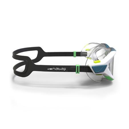 """Peldēšanas maska """"Active 500"""", S izmērs, balta ar zaļām caurspīdīgām lēcām"""