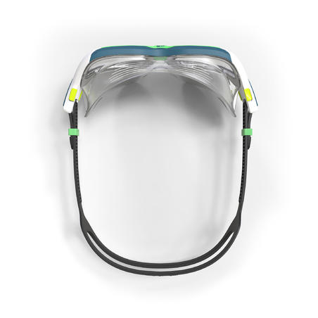 SWIMMING POOL MASK ACTIVE SIZE S CLEAR LENSES - GREEN / WHITE