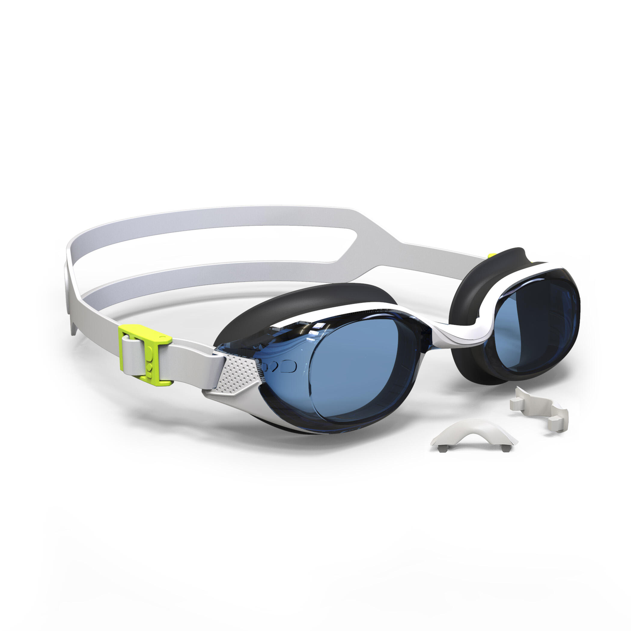 แว่นตาว่ายน้ำชนิดเลนส์ใสรุ่น 500 B-Fit (สีขาว) บริการเก็บเงินปลายทาง.