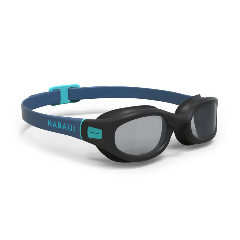 Zwembril met getinte glazen Soft maat L zwart blauw