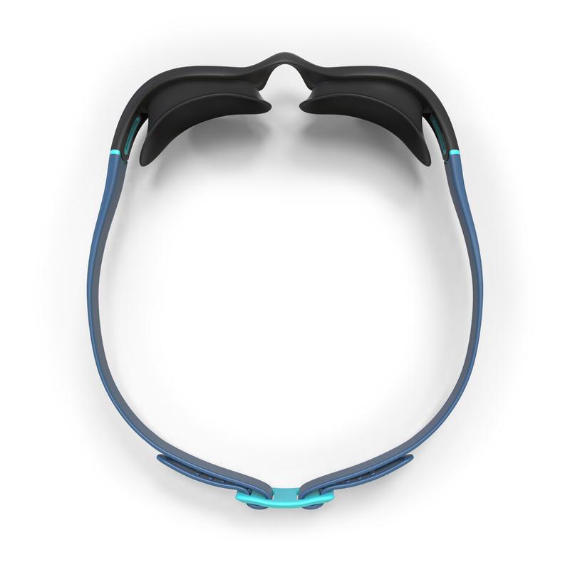 Swimming Goggles SOFT 100 Smoked Lens - Black Aquamarine
