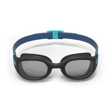 Goggles de Natación 100 Soft Negro Azul Cristales Ahumados Talla G