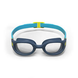 SWIMMING GOGGLES 100 SOFT SIZE S BLUE YELLOW CLEAR LENSES
