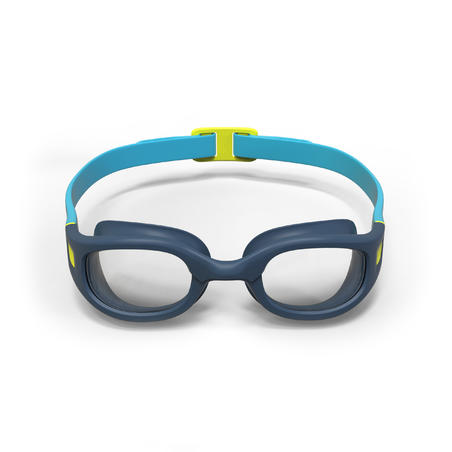 SWIMMING GOGGLES SOFT - SIZE S - CLEAR LENSES - BLUE YELLOW