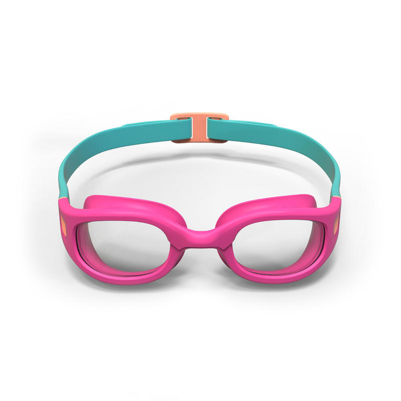 SWIMMING GOGGLES SOFT SIZE S CLEAR LENSES - PINK CORAL