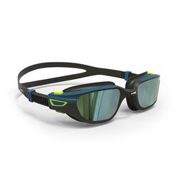 SWIMMING GOGGLES SPIRIT SIZE L MIRROR LENSES - BLACK / BLUE