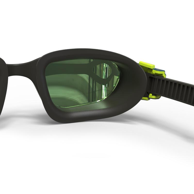 แว่นตาว่ายน้ำรุ่น SPIRIT 500 ขนาด L (สีดำ/ฟ้า เลนส์สะท้อนแสง)