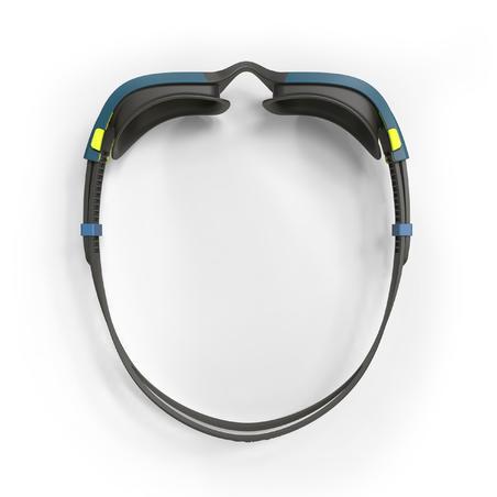 Goggles Natación 500 Spirit Negro Azul Cristales Espejo Talla G