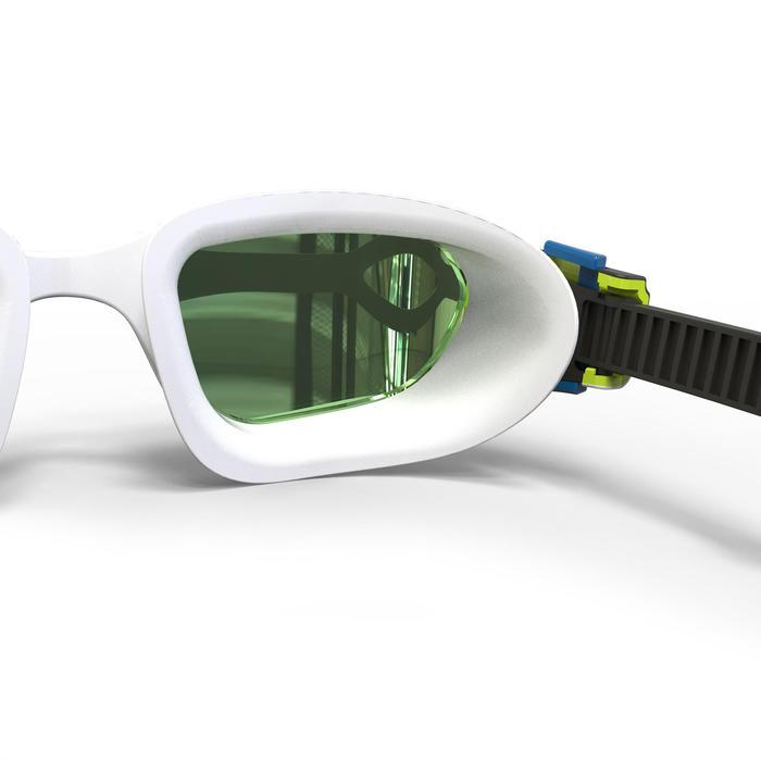 鏡面鏡片500 SPIRIT泳鏡 L號白黑色