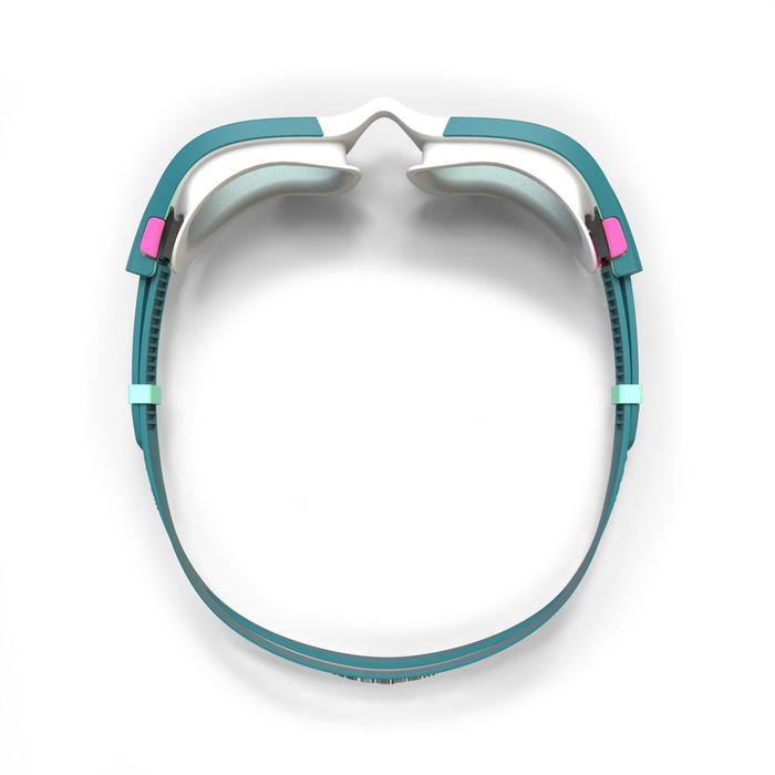 泳鏡500 SPIRIT S號白藍色透明鏡片