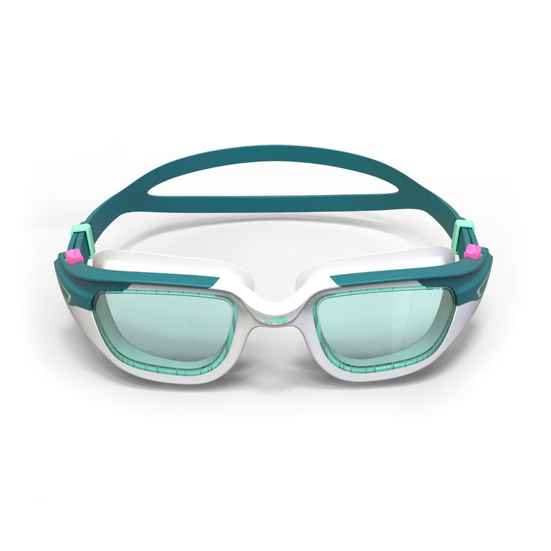 SWIMMING GOGGLES SPIRIT SIZE S CLEAR LENSES - GREEN / WHITE
