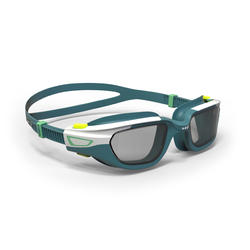 SWIMMING GOGGLES SPIRIT SIZE SMALL SMOKED LENS - WHITE BLUE