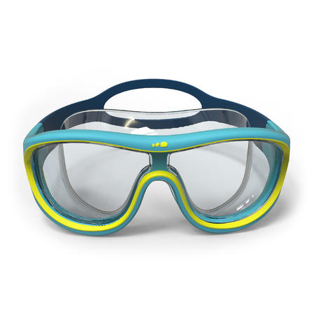 SWIMMING MASK 100 SWIMDOW SIZE S BLUE YELLOW