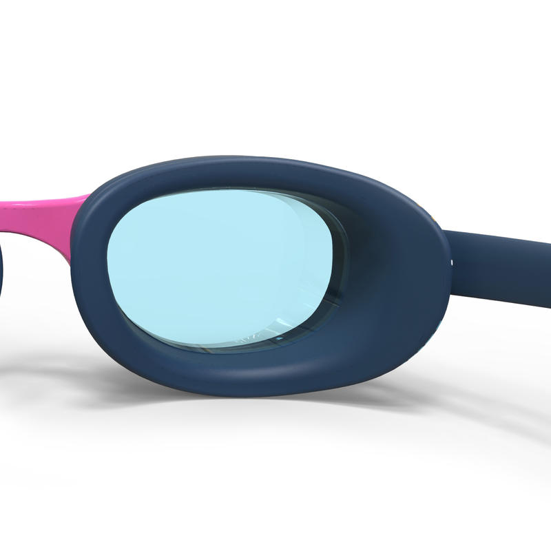 SWIMMING GOGGLES 100 XBASE PRINT SIZE L PINK GOLD