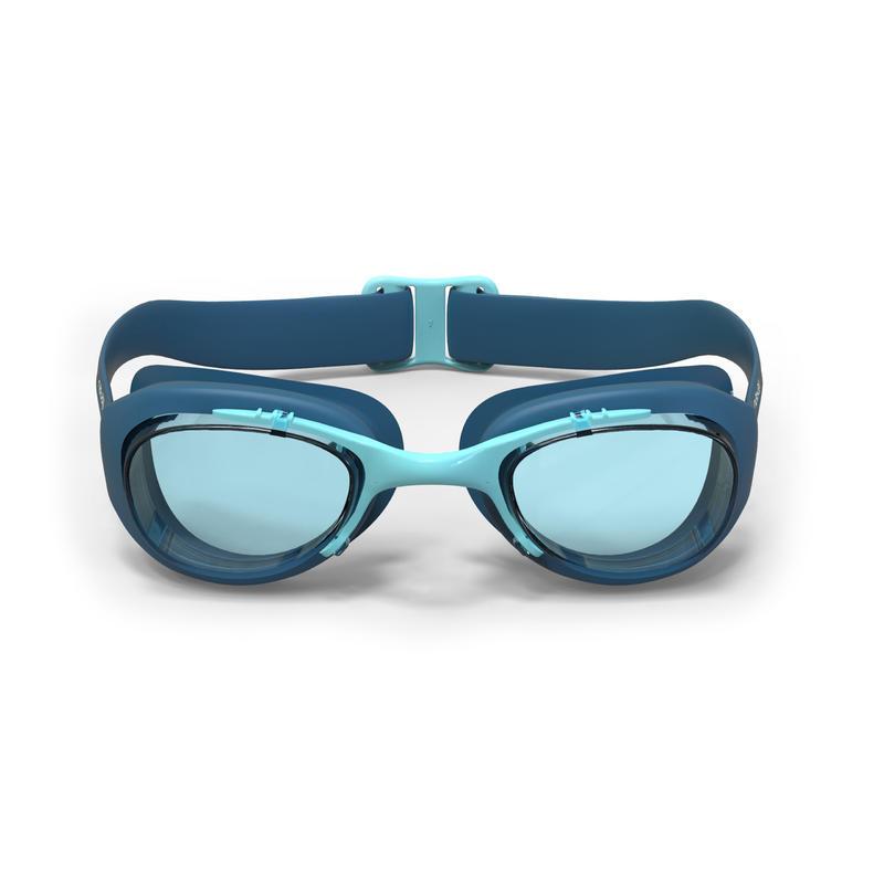 แว่นตาว่ายน้ำรุ่น 100 XBASE ขนาด L (สีฟ้า TURQUOISE)
