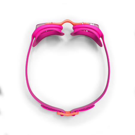 SWIMMING GOGGLES XBASE S CLEAR LENSES - PINK CORAL