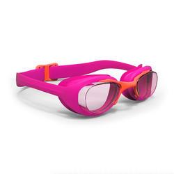 Zwembril met heldere glazen X-Base maat S roze koraalrood