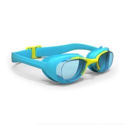 Schwimmbrille XBase Größe S klar blau/gelb