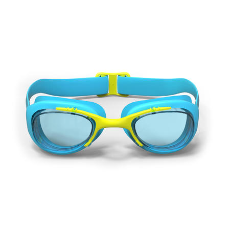 SWIMMING GOGGLES 100 XBASE SIZE S BLUE YELLOW