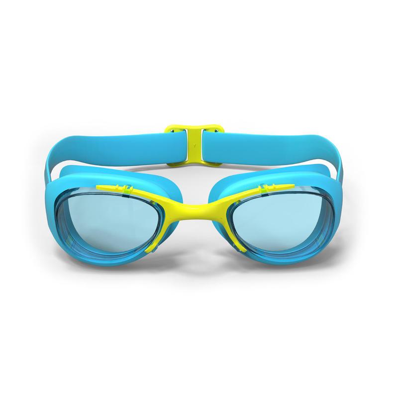 Lentes Natación 100 Xbase Azul Amarillo Talla S