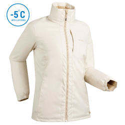 WOMEN'S DOWNHILL SKI JACKET 100 - BEIGE