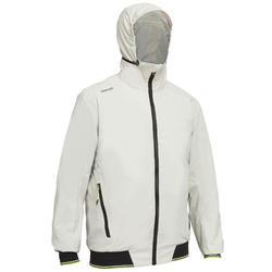 男款遊艇競賽連帽外套RACE 100-灰色