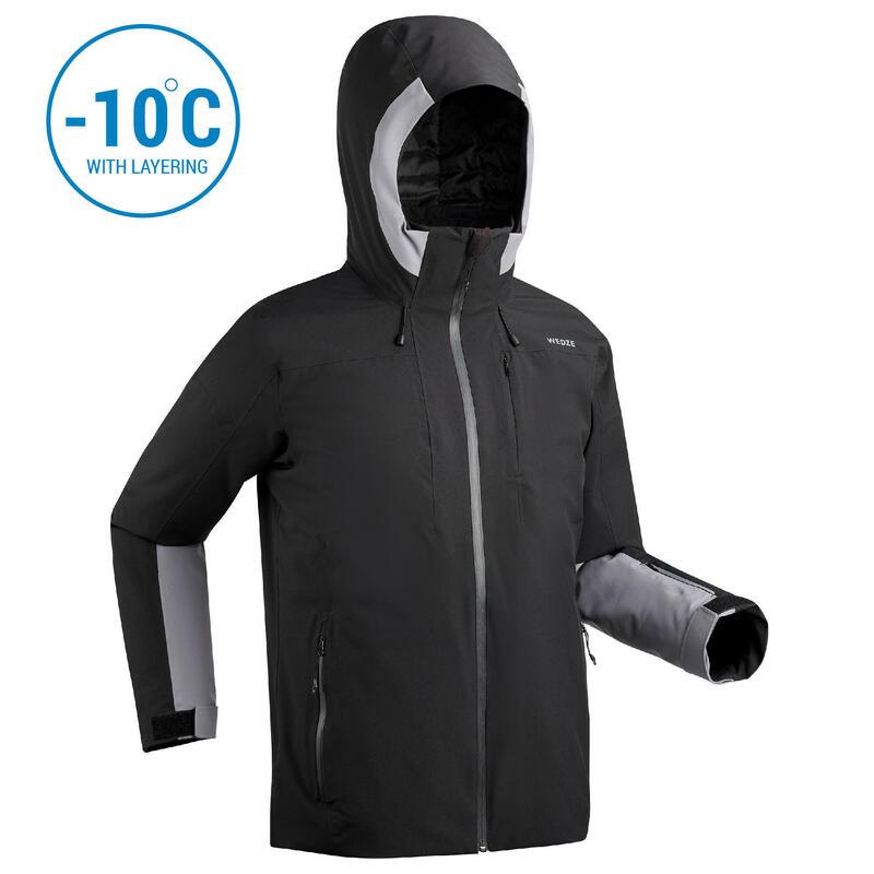 Men's Piste Ski Jacket 500 - black
