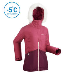 WOMEN'S DOWNHILL SKI JACKET 180 - PURPLE