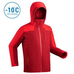 Winterjas heren waterdicht   Ski jas heren   500 rood   Wedze