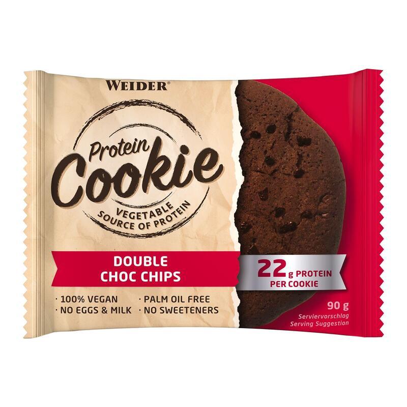 Cookie galleta proteína vegana doble chocolate chips 100% 90 g