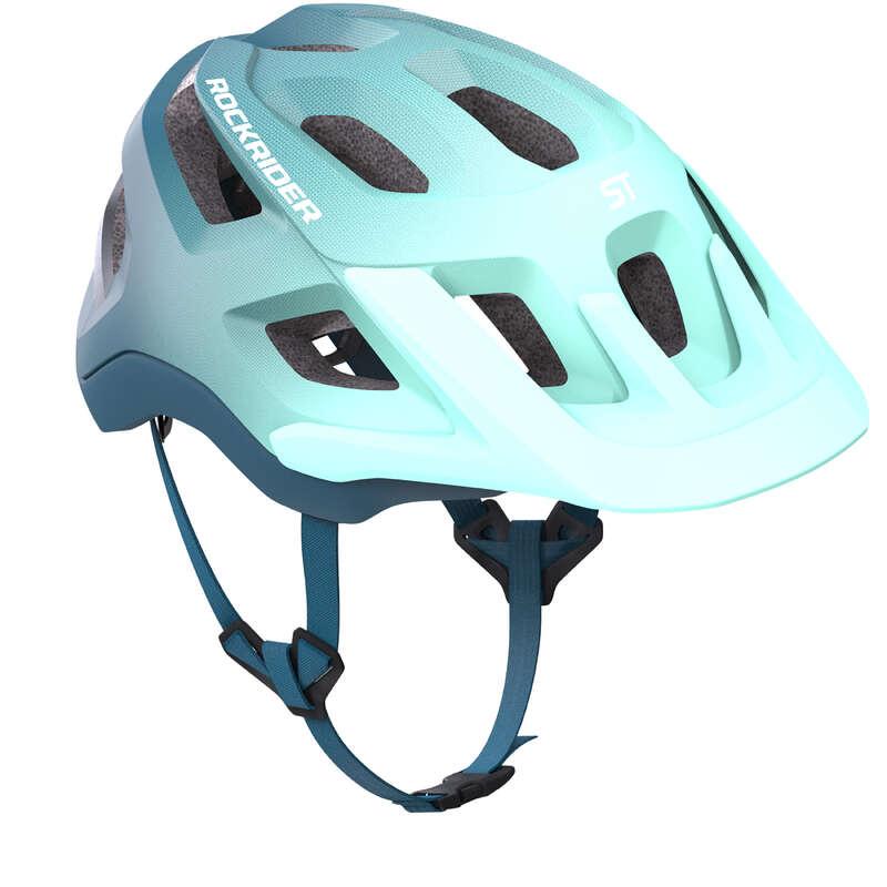 CYKELHJÄLMMTB VUXEN Cykelsport - Cykelhjälm MTB ST 500 blå ROCKRIDER - Cykelhjälmar