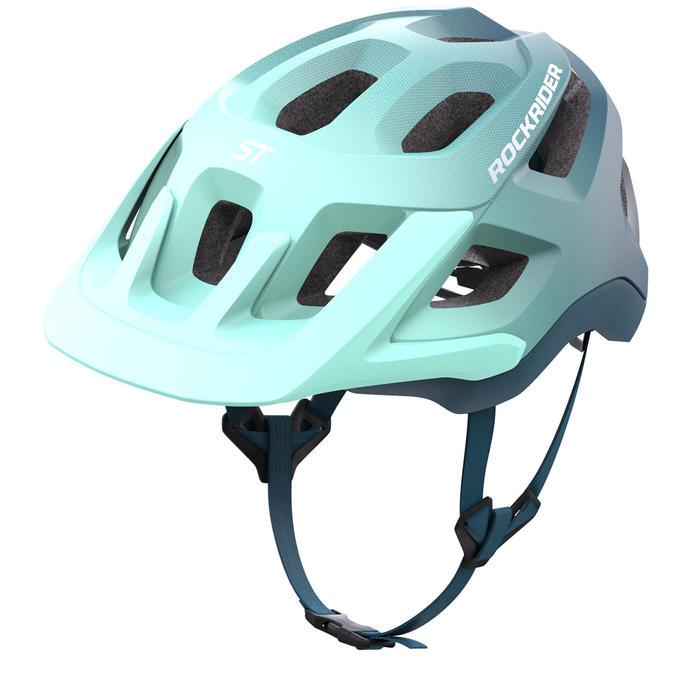 Fahrradhelm MTB ST 500 blau