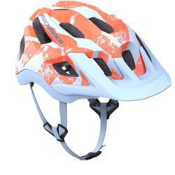 Fahrradhelm MTB ST 500 blau/orange