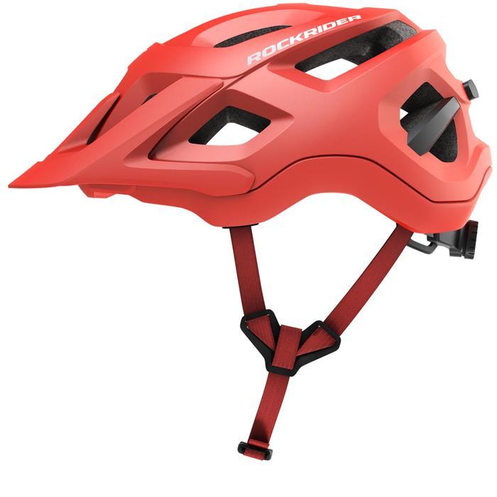 Fahrradhelm MTB ST 500 rot