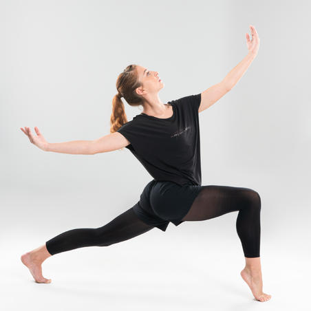 Loose Modern Dance T-Shirt Black - Women