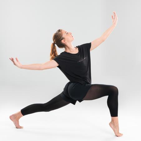 T-shirt de danse moderne fluide noir – Femmes