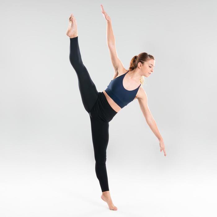 Sporttopje voor moderne dans dames marineblauw