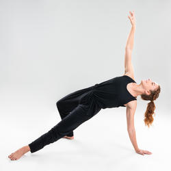 Combinaison danse moderne noire fluide femme