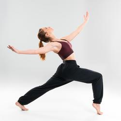 Wijde damesbroek voor moderne dans zwart