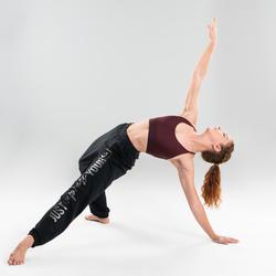 Sporttopje voor moderne dans bordeaux