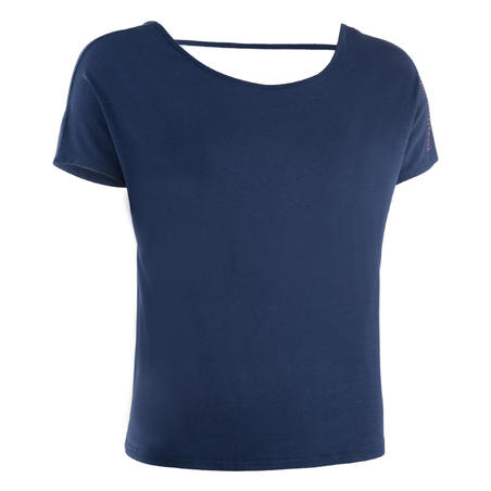 Loose Modern Dance T-Shirt Navy Blue - Women