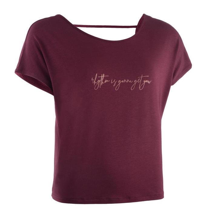 Soepel T-shirt moderne dans dames bordeaux