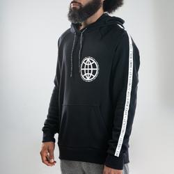Hoodie voor streetdance zwart met motief