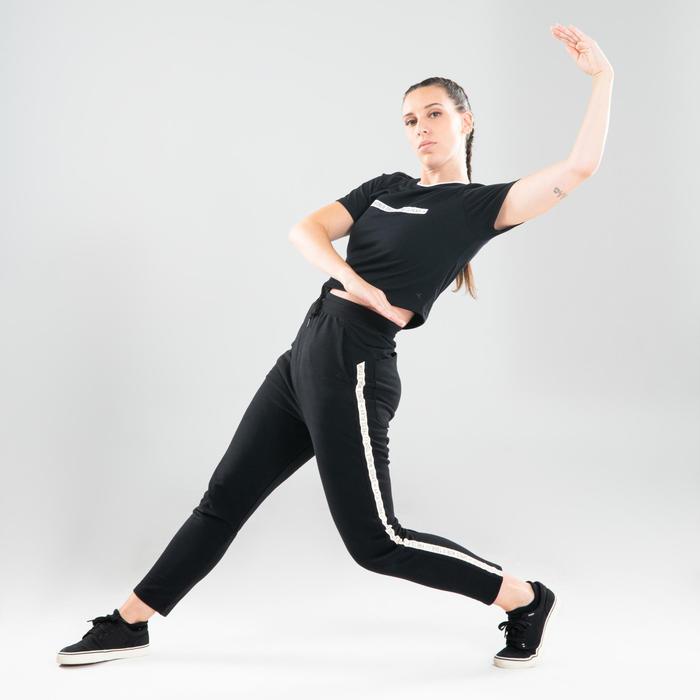 Crop top voor streetdance dames zwart