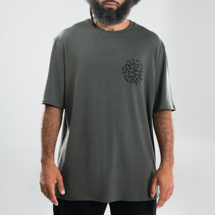 T-shirt voor streetdance heren kaki