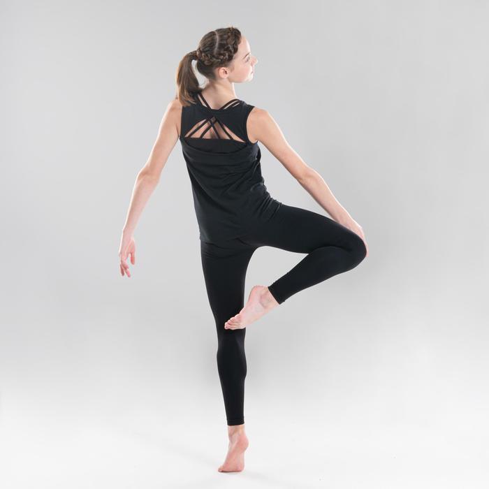 Débardeur danse moderne noir ajouré au dos fille